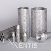 permeable metal filter and filter-elements, silencers